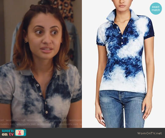 Skinny Stretch Tie-Dye Polo by Ralph Lauren  worn by Ana Torres (Francia Raisa) on Grown-ish