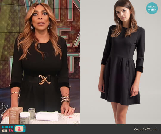 Embellished Double Knit LBD by Press worn by Wendy Williams  on The Wendy Williams Show