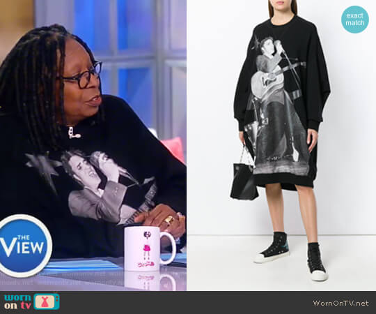 Elvis grunge dress by R13 worn by Whoopi Goldberg  on The View