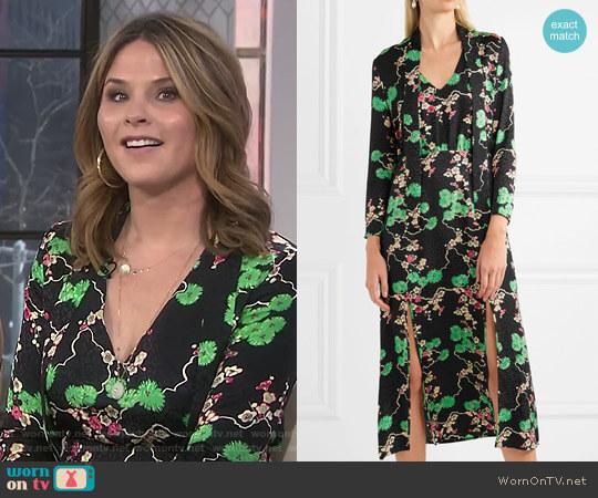 'Stella' Midi Dress by Rixo London worn by Jenna Bush Hager  on Today