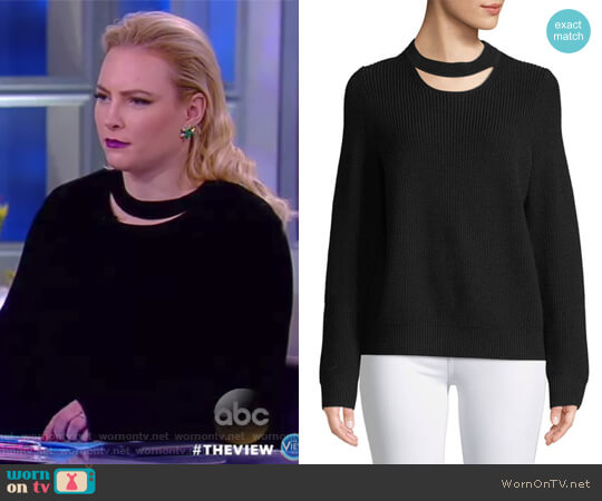 Tori Crew-Neck Cutout Sweater by Rag and Bone worn by Meghan McCain on The View