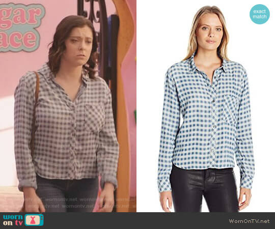 'Dana' Shirt by Rails worn by Rebecca Bunch (Rachel Bloom) on Crazy Ex-Girlfriend