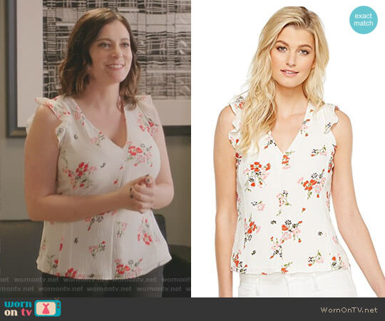 Marguerite Top by Rebecca Taylor worn by Rachel Bloom on Crazy Ex-Girlfriend