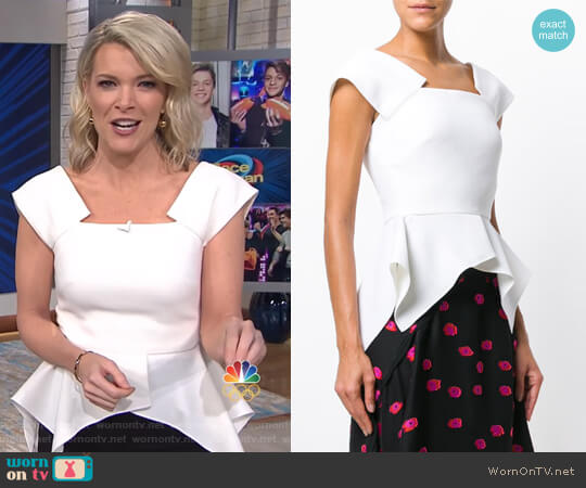Merley Top by Roland Mouret worn by Megyn Kelly  on Today