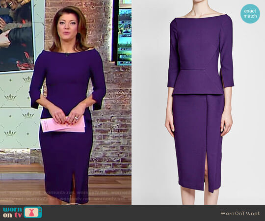 'Ardingly' Dress by Roland Mouret worn by Norah O'Donnell on CBS This Morning