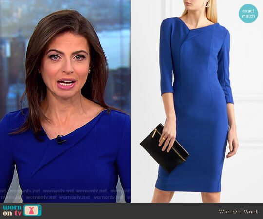 'Ashby' Dress by Roland Mouret worn by Bianna Golodryga on CBS This Morning