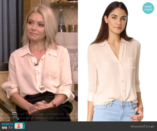 'Ryan' Blouse by L'Agence worn by Kelly Ripa (Kelly Ripa) on Live with Kelly & Ryan