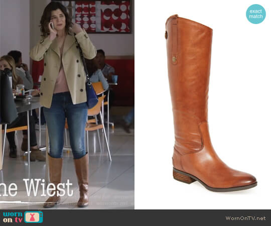 Penny Boot by Sam Edelman worn by Betsy Brandt on Life in Pieces