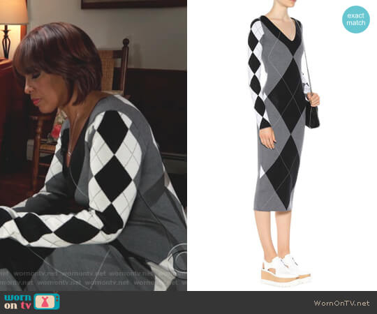 Argyle wool-blend dress by Stella McCartney worn by Gayle King (Gayle King) on CBS This Morning
