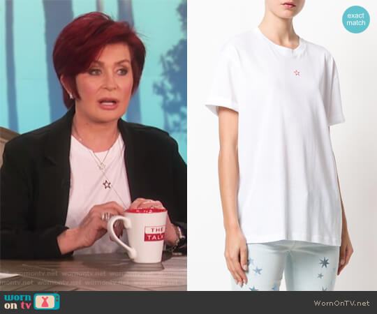 Star Print T-Shirt by Stella McCartney worn by Sharon Osbourne on The Talk