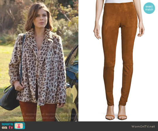 'Carolyn' Leggings by Stouls worn by Nathalie Kelley on Dynasty