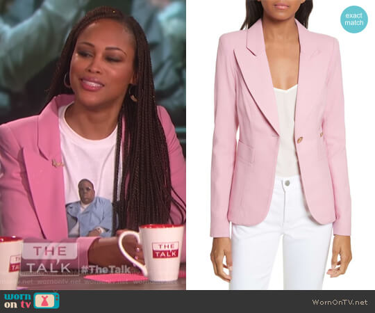 'Duchess' Single Button Blazer by Smythe worn by Eve  on The Talk
