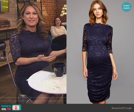 Lace Maternity Dress by Soon Maternity  worn by Ginger Zee on Good Morning America