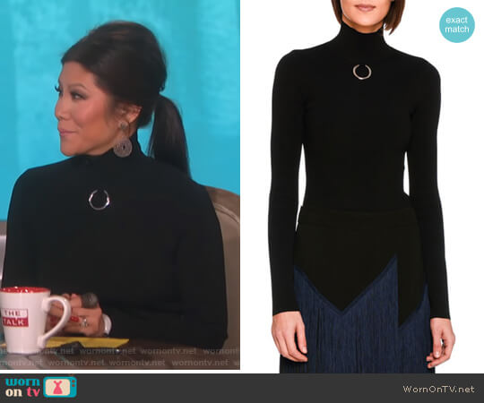 Turtleneck Sweater Top with Ring by Stella McCartney worn by Julie Chen on The Talk