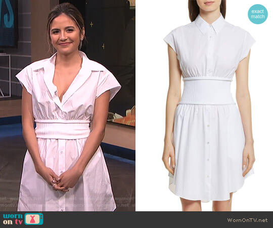 Cotton Poplin Shirtdress by T by Alexander Wang worn by Erin Lim on E! News