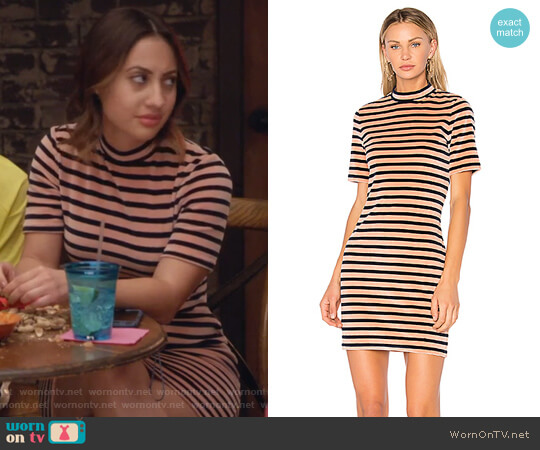 Mock Neck Dress by T by Alexander Wang worn by Ana Torres (Francia Raisa) on Grown-ish