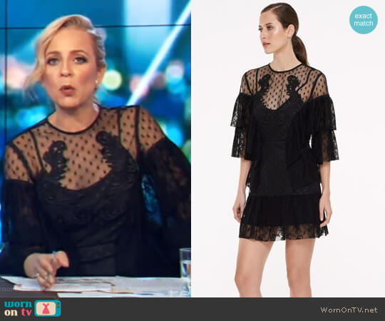 Armour Mini Dress by Talulah worn by Carrie Bickmore  on The Project