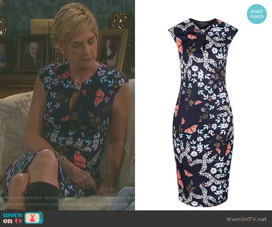 'Kairra' Kyoto Gardens Dress by Ted Baker worn by Kassie DePaiva on Days of our Lives