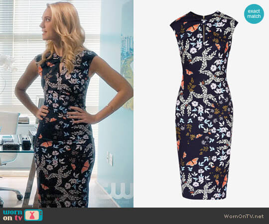 Ted Baker Kairra Kyoto Gardens Dress worn by Petra Solano (Yael Grobglas) on Jane the Virgin
