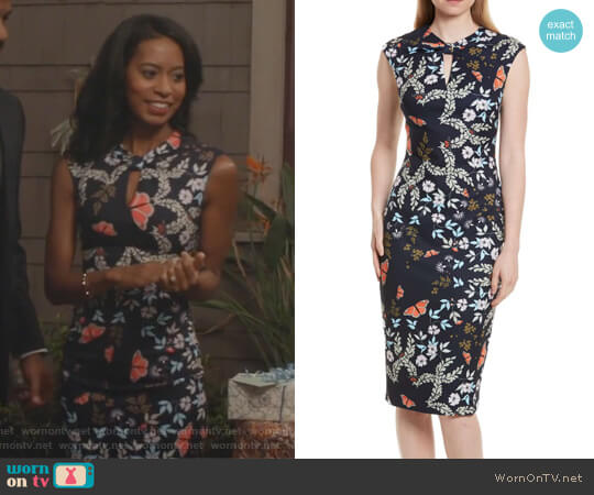 Kiarra Kyoto Gardens Sheath Dress by Ted Baker