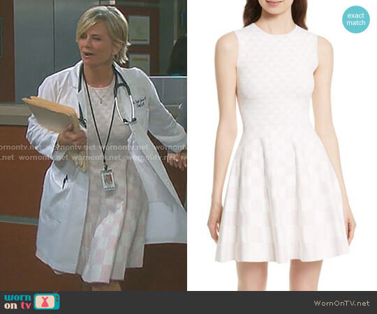'Lowrel' Jacquard Skater Dress by Ted Baker worn by Mary Beth Evans on Days of our Lives