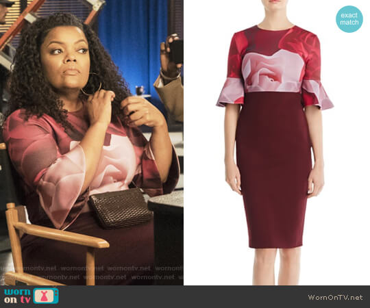 Tzalva Porcelain Rose Dress by Ted Baker worn by Yvette Nicole Brown on The Mayor