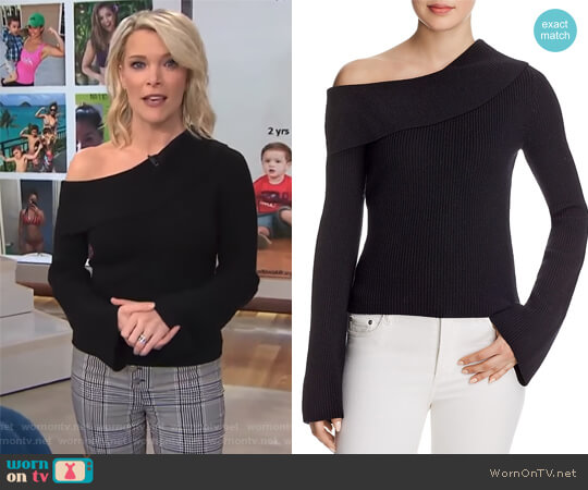 Prosecco Off-Shoulder Sweater by Theory worn by Megyn Kelly on Today