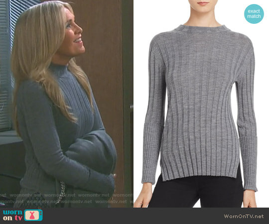 Rib Mock-Neck Sweater by Theory worn by Jennifer Horton (Melissa Reeves) on Days of our Lives