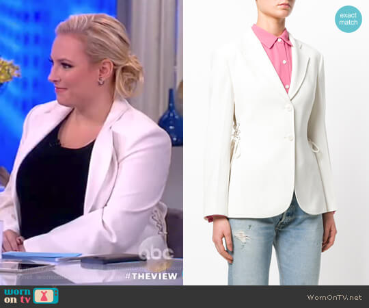 Lace-up Detail Blazer by Theory worn by Meghan McCain  on The View