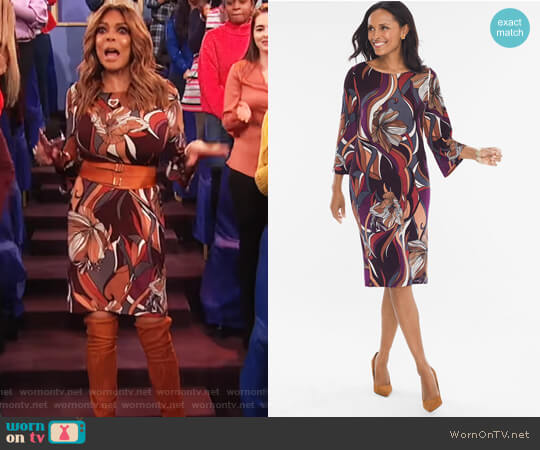 Baroque Floral Dress by Travelers Classic worn by Wendy Williams  on The Wendy Williams Show