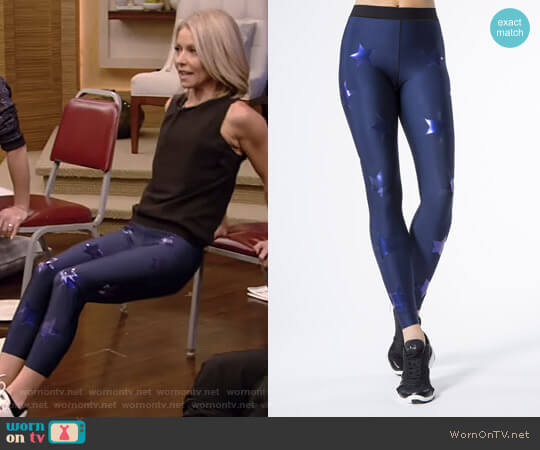 Silk Knockout Leggings by Ultracor worn by Kelly Ripa  on Live with Kelly & Ryan