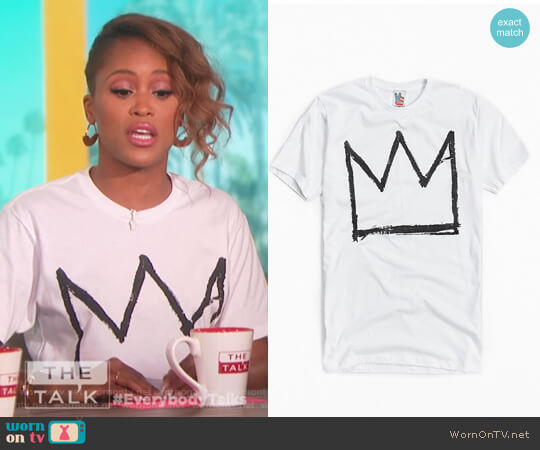 Basquiat Crown Tee by Urban Outfitters worn by Eve on The Talk