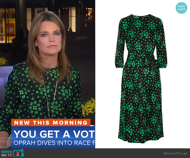 Aurore Printed Midi Dress by Vanessa Seward worn by Savannah Guthrie on Today