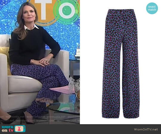 'Emmanuelle' Wide-Leg Pants by Vanessa Seward worn by Savannah Guthrie on Today