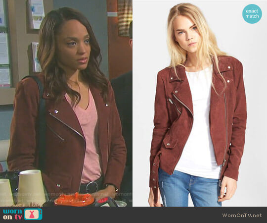 'Jayne' Moto Jacket by Veda worn by Sal Stowers on Days of our Lives