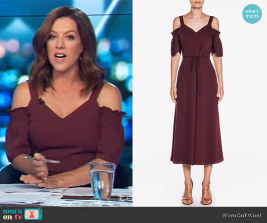 Smooth Twill V Neck Jumpsuit by Veronika Maine worn by Gorgi Coghlan (Gorgi Coghlan) on The Project