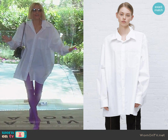 Brioni Button Down Shirt by Vetements worn by Dorit Kemsley  on The Real Housewives of Beverly Hills
