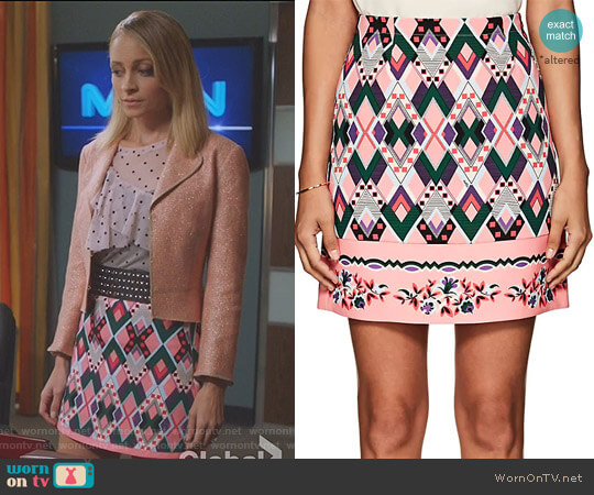 'Sharja' Crepe Miniskirt by Vivetta worn by Portia Scott-Griffith (Nicole Richie) on Great News