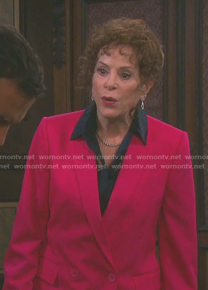 Vivian's pink double breasted blazer on Days of our Lives