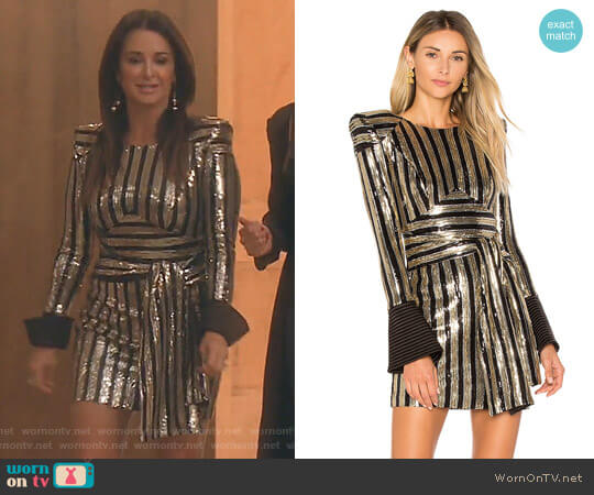 Take That To The Bank Mini Dress by Zhivago worn by Kyle Richards  on The Real Housewives of Beverly Hills