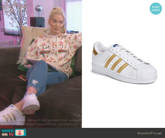 Superstar Sneaker by Adidas worn by Erika Girardi  on The Real Housewives of Beverly Hills