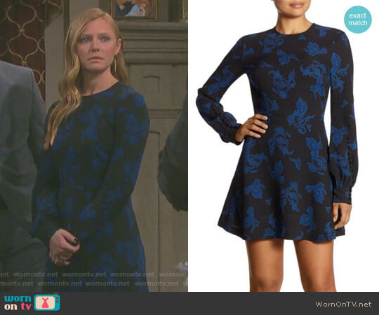 'Lauren' Printed Dress by ALC worn by Marci Miller on Days of our Lives