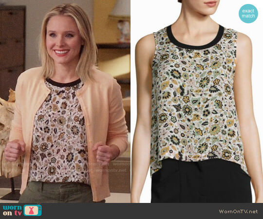 ALC Harper Floral Top worn by Kristen Bell on The Good Place