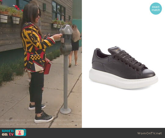 Leather Sneaker by Alexander McQueen worn by Kyle Richards on The Real Housewives of Beverly Hills
