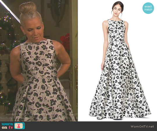 'Drea' Gown by Alice + Olivia worn by Jennifer Horton (Melissa Reeves) on Days of our Lives
