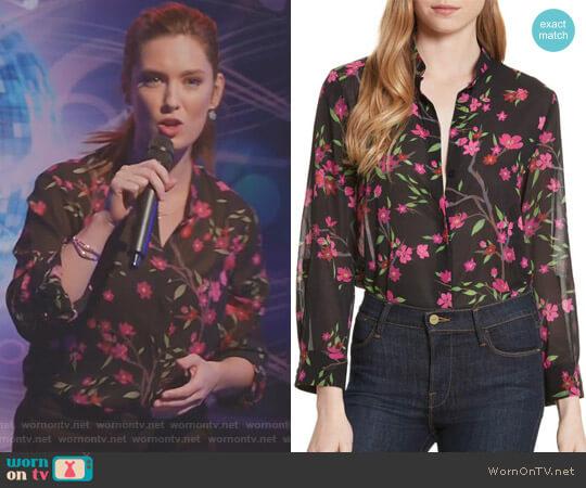 'Eloise' Mandarin Collar Blouse by Alice + Olivia  worn by Katherine Wendelson (Briga Heelan) on Great News