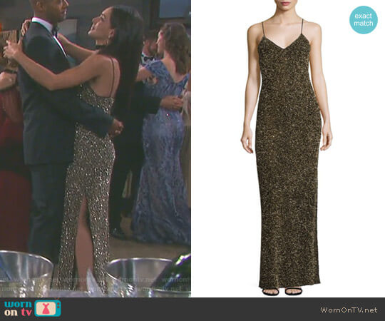 'Stila' Gown by Alice + Olivia worn by Gabi Hernandez (Camila Banus) on Days of our Lives