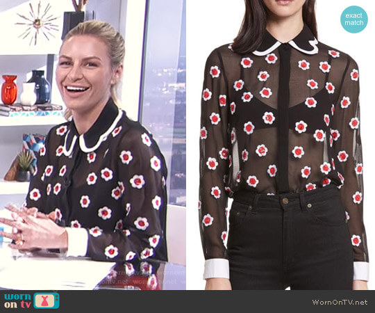 'Willa' Blouse by Alice + Olivia worn by Morgan Stewart  on E! News