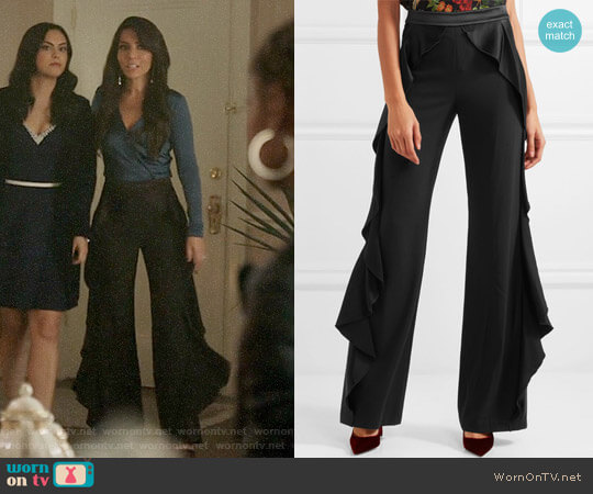 Alice + Olivia Wallace Pants worn by Hermione Lodge (Marisol Nichols) on Riverdale