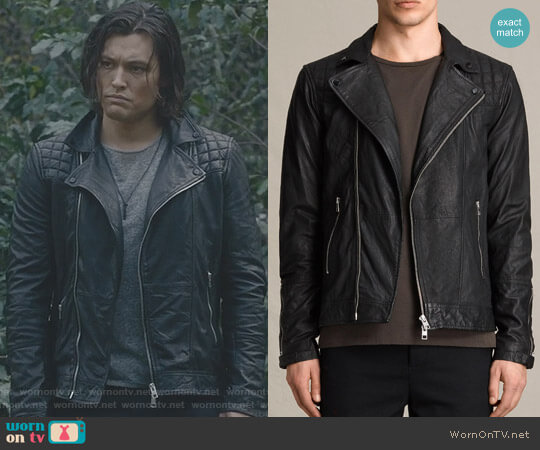 'Kushiro' Biker Jacket by All Saints worn by  John Proudstar (Blair Redford) on The Gifted
